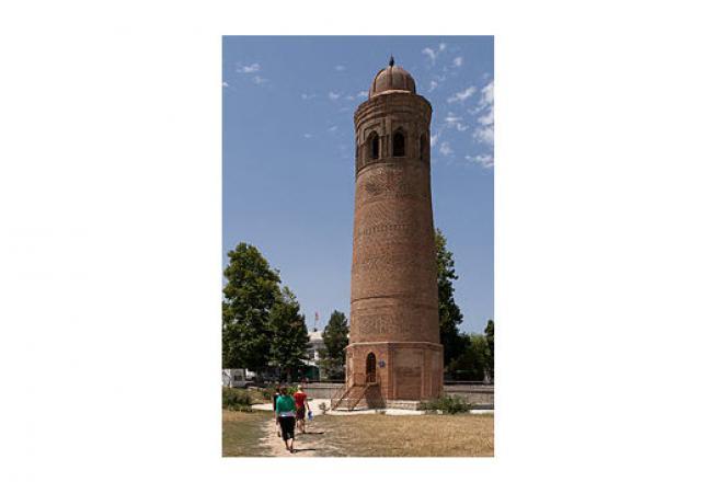 Visit 11th-century Uzgen Minaret, Kyrgyzstan,AI TOUR Kyrgyzstan Travel Agency, visit Kyrgyzstan Southern Tours & Travels